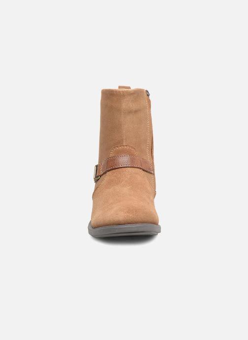 Bottes Noël Fidji Marron vue portées chaussures