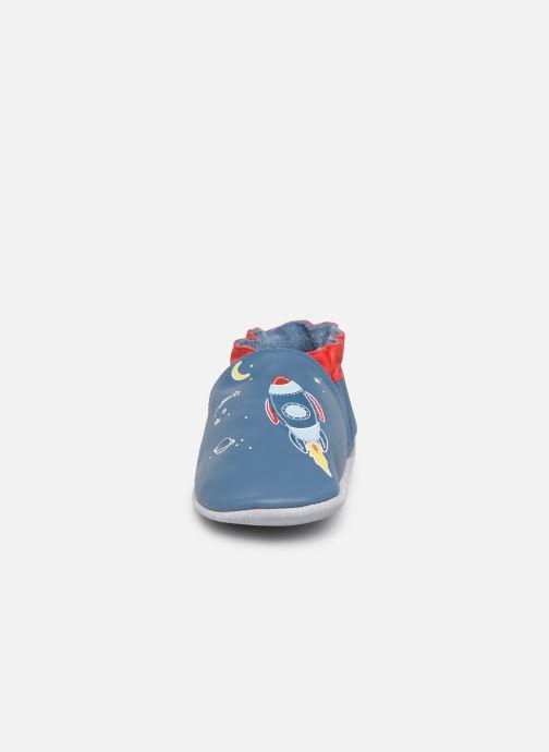 Chaussons Robeez Sweet Rocket Bleu vue portées chaussures