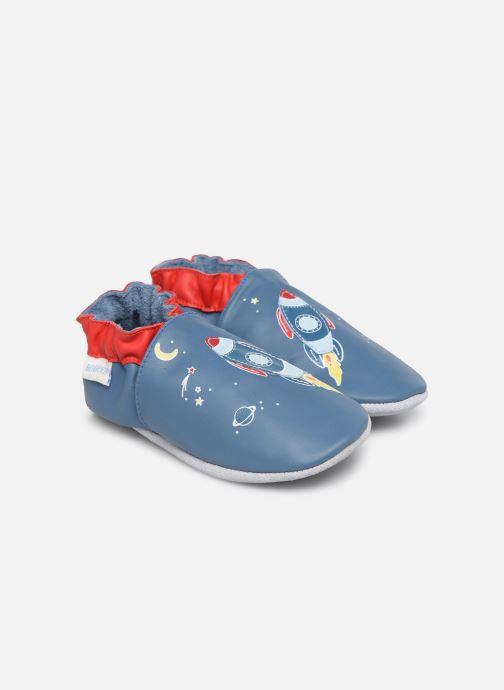 Chaussons Robeez Sweet Rocket Bleu vue détail/paire