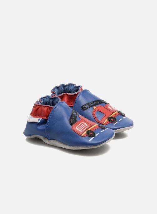 Pantuflas Robeez Firetruck Azul vista de detalle / par