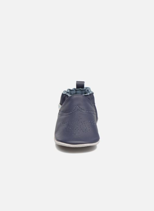 Hausschuhe Robeez Chic & Smart blau schuhe getragen
