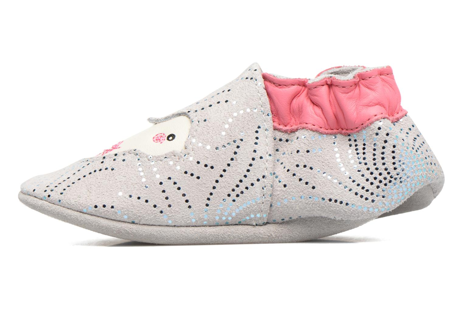 Chaussons Robeez Lovely Birds Gris vue face