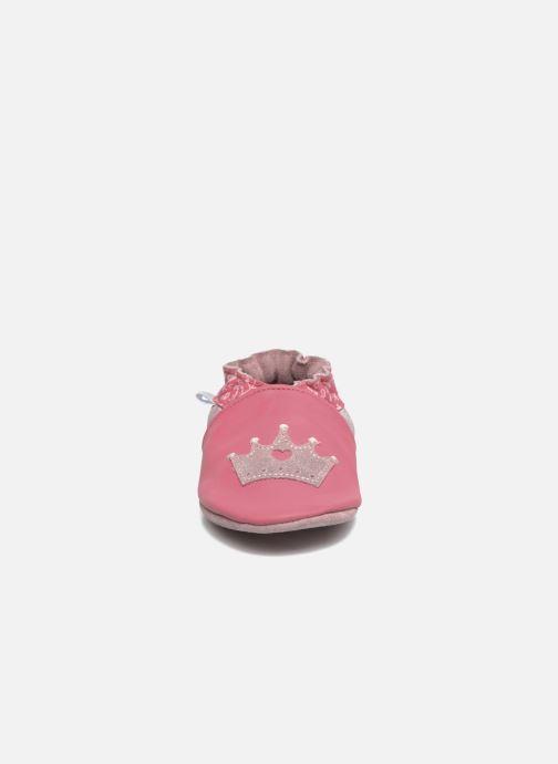 Hausschuhe Robeez Princess Story rosa schuhe getragen