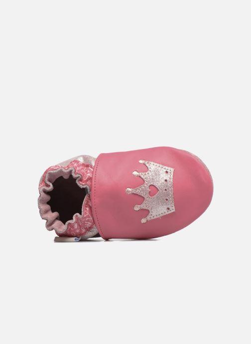 Hausschuhe Robeez Princess Story rosa ansicht von links
