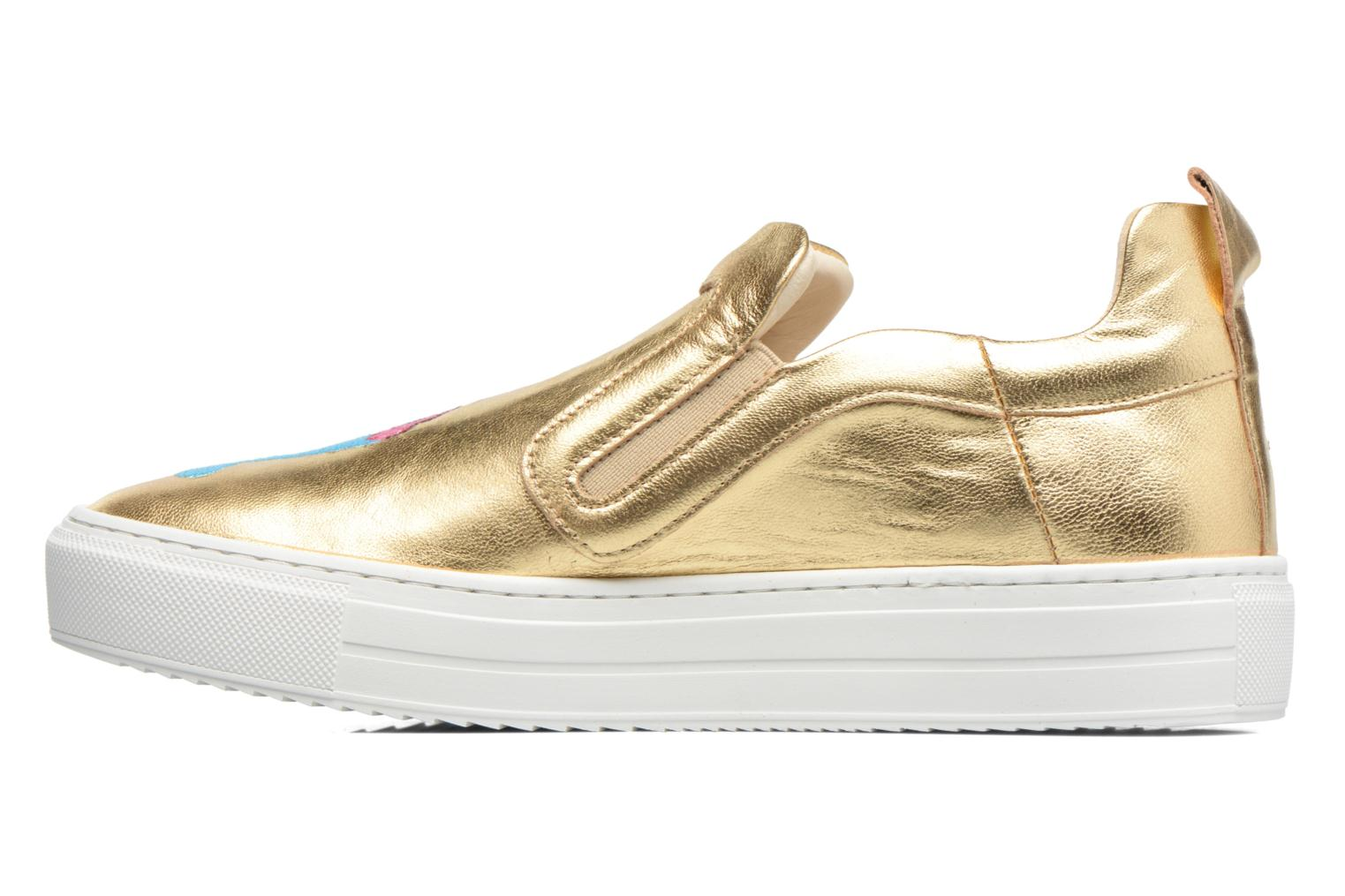 Trainers Apologie Ice Cream Bronze and Gold front view