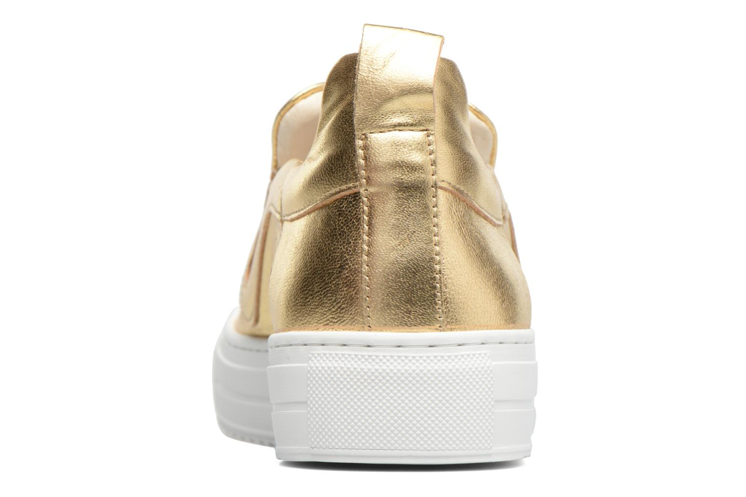 Trainers Apologie Ice Cream Bronze and Gold view from the right