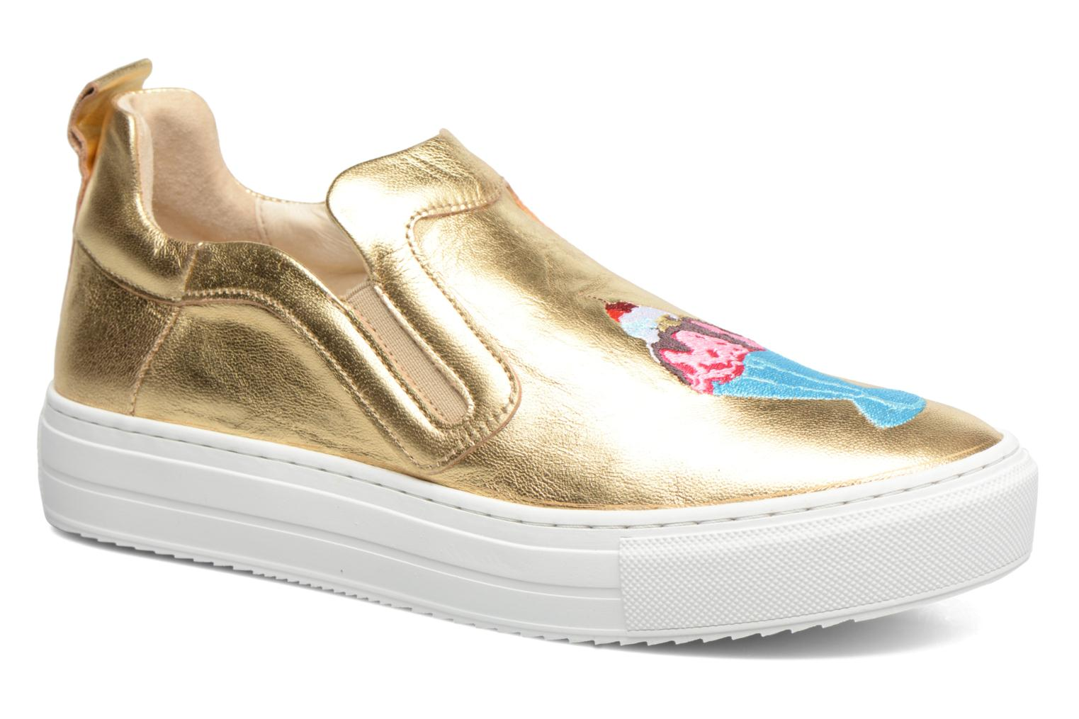 Trainers Apologie Ice Cream Bronze and Gold detailed view/ Pair view