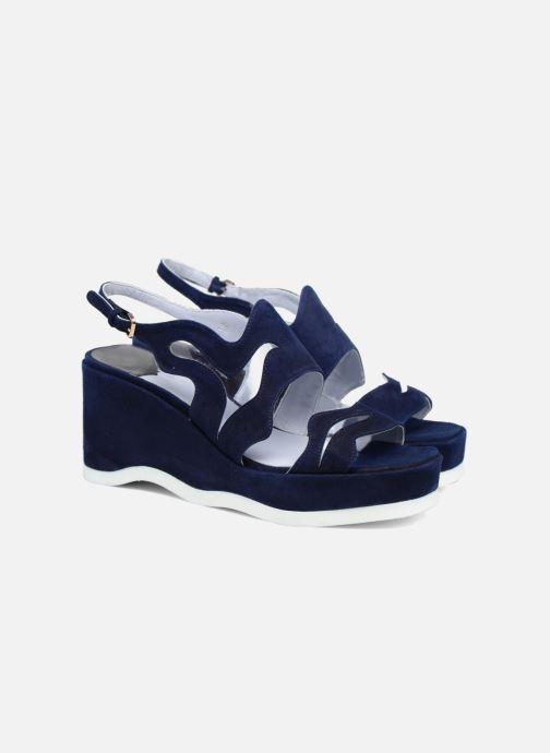 Sandales et nu-pieds Apologie Matthieu Bleu vue 3/4