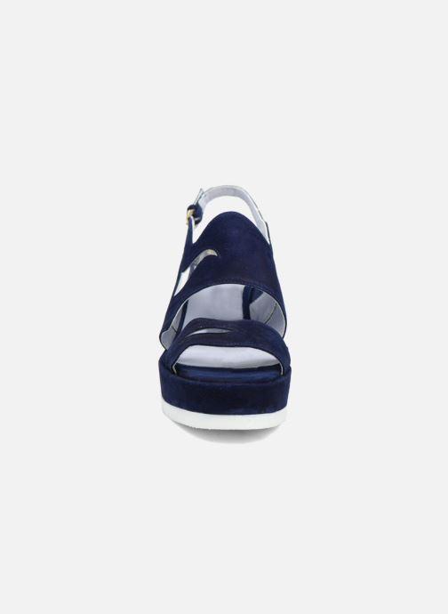 Sandales et nu-pieds Apologie Matthieu Bleu vue portées chaussures