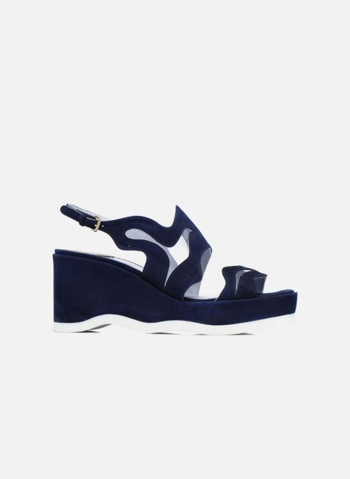 Sandales et nu-pieds Apologie Matthieu Bleu vue derrière