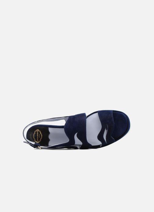 Sandales et nu-pieds Apologie Matthieu Bleu vue gauche
