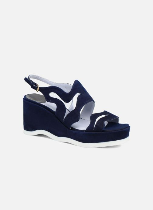 Sandales et nu-pieds Apologie Matthieu Bleu vue détail/paire
