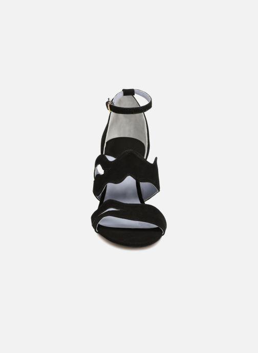 Sandales et nu-pieds Apologie Polo Noir vue portées chaussures