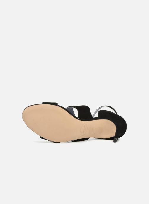Sandales et nu-pieds Apologie Polo Noir vue haut