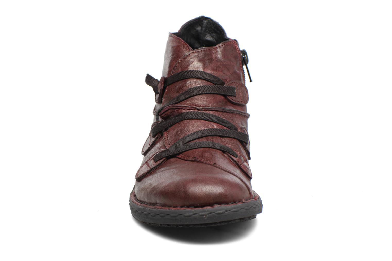 Ankle boots Khrio Filim Burgundy model view