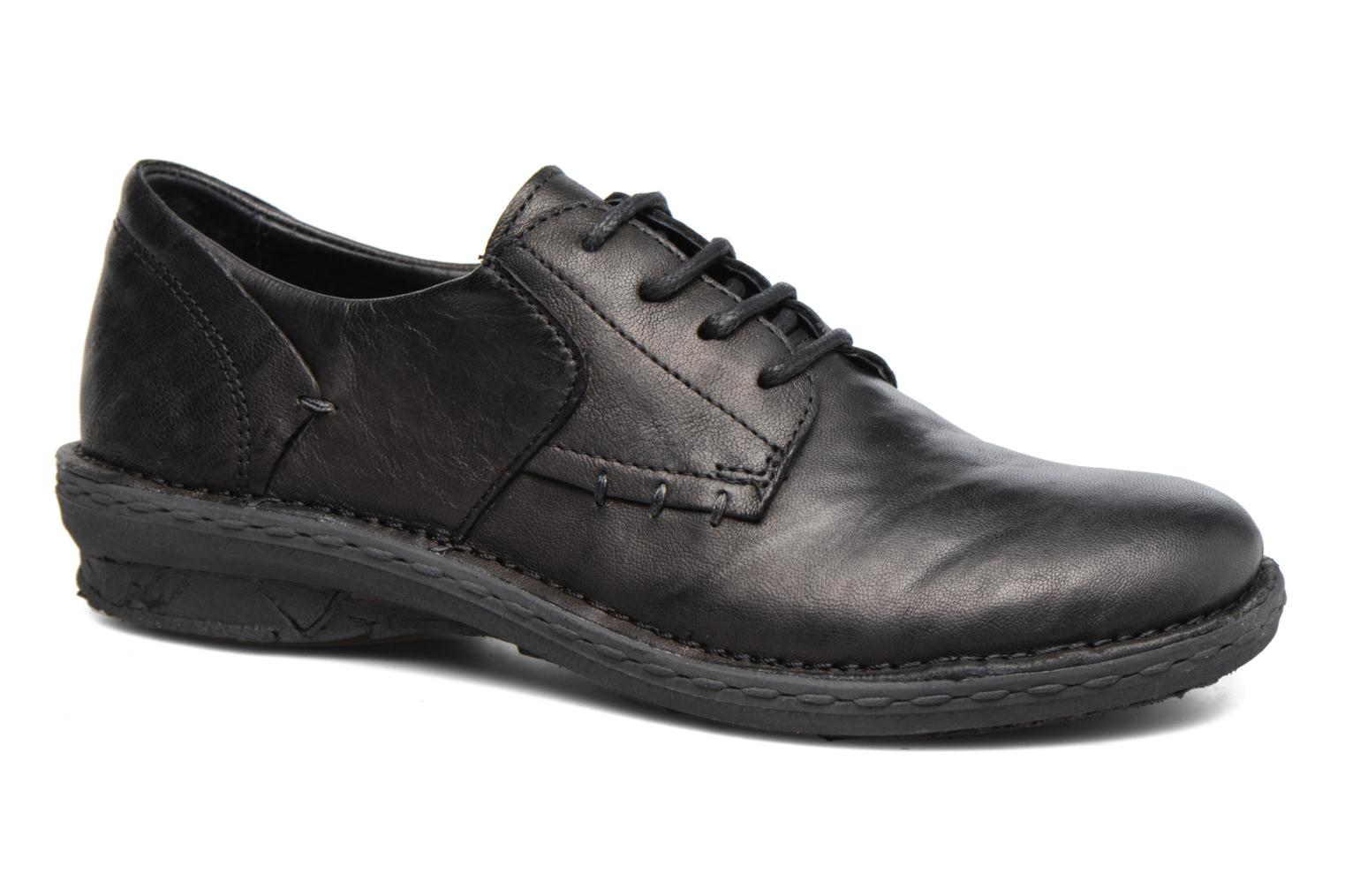 Lace-up shoes Khrio Brancer Black detailed view/ Pair view