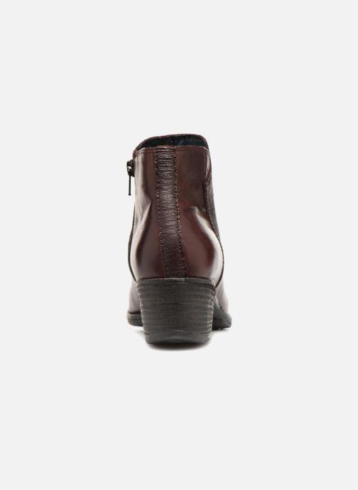 Bottines et boots Khrio Belal Bordeaux vue droite