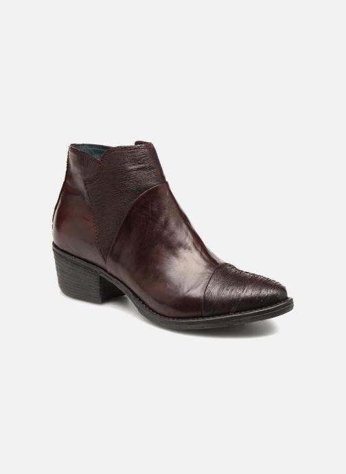 Bottines et boots Khrio Belal Bordeaux vue détail/paire