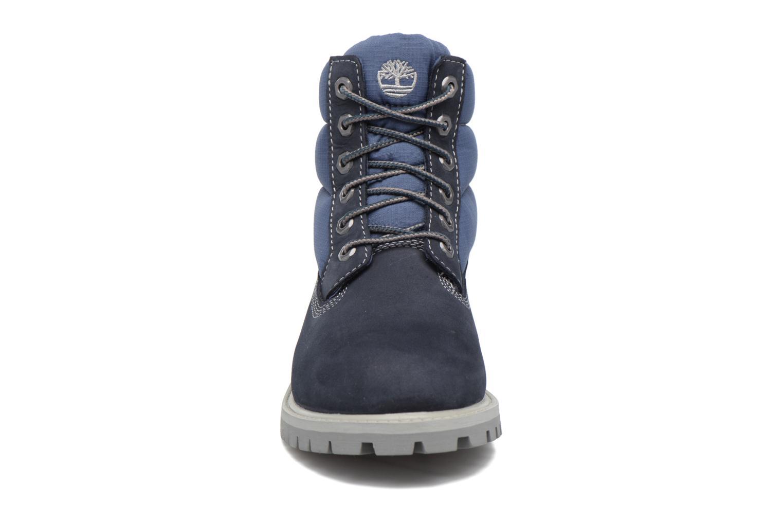 Bottines et boots Timberland 6 In Quilt Boot Navy Bleu vue portées chaussures