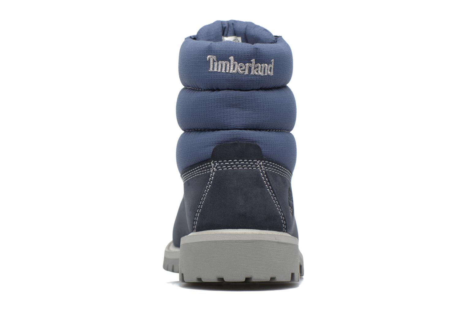 Botines  Timberland 6 In Quilt Boot Navy Azul vista lateral derecha