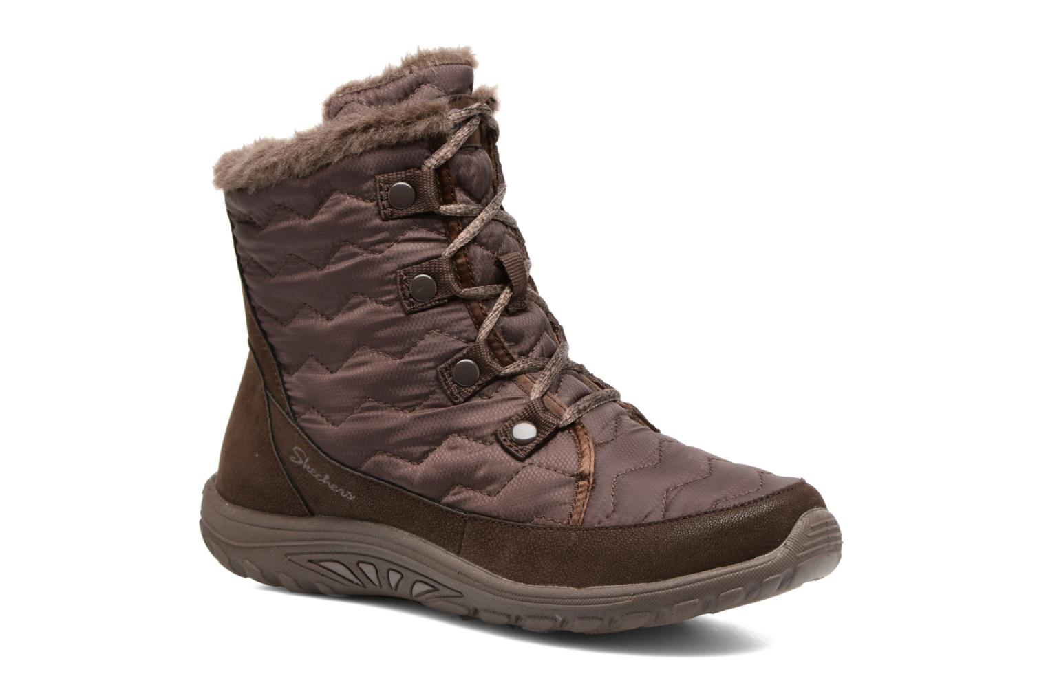 Ankle boots Skechers Reggae Fest Vector Brown detailed view/ Pair view