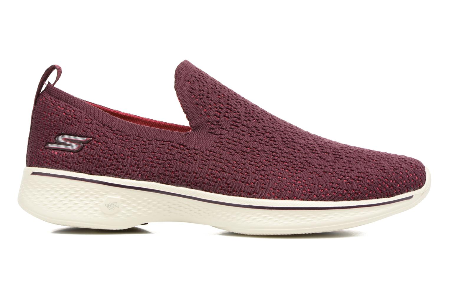 Sport shoes Skechers Go walk 4 gifted Burgundy back view