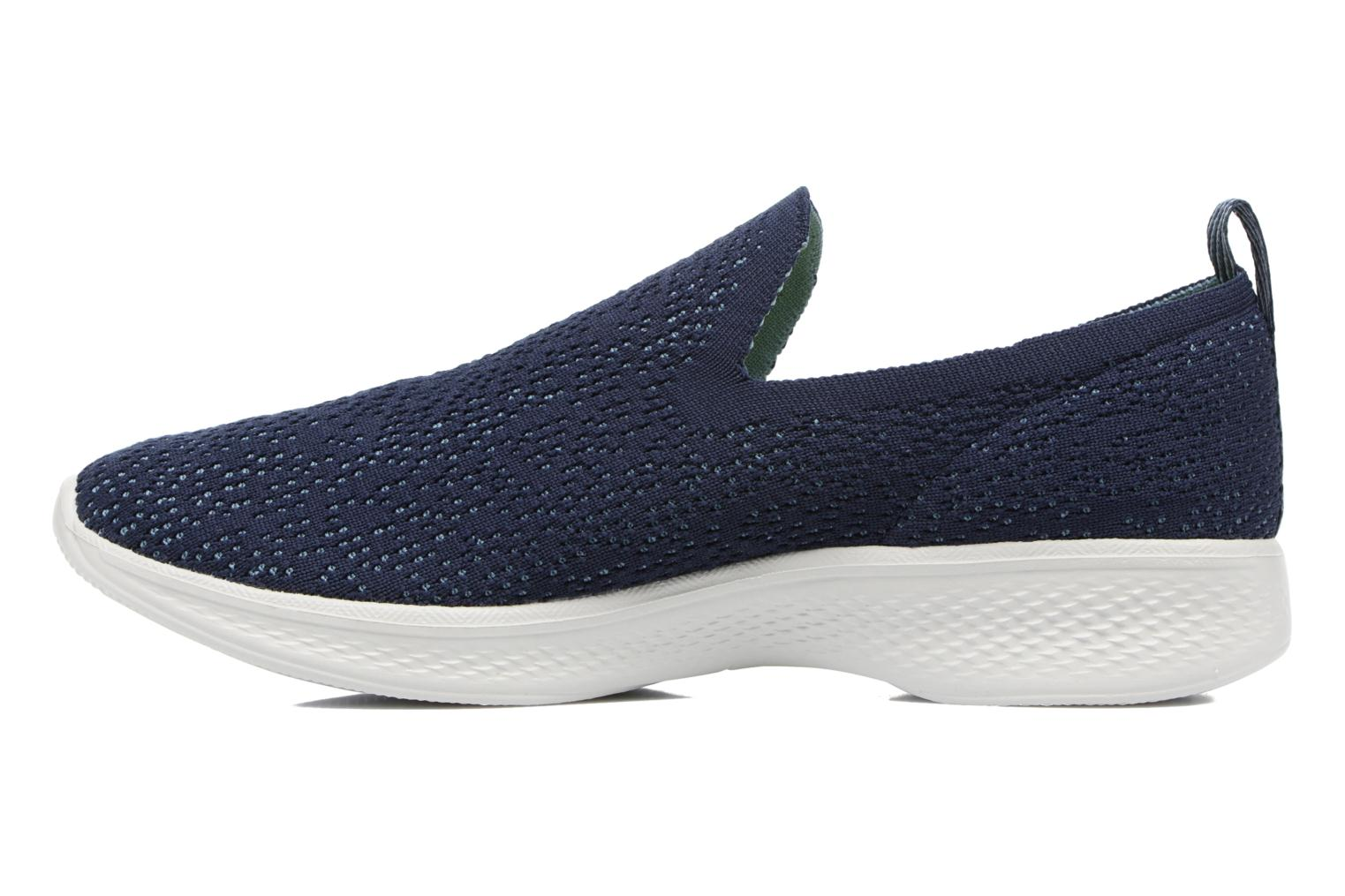 Sport shoes Skechers Go walk 4 gifted Blue front view