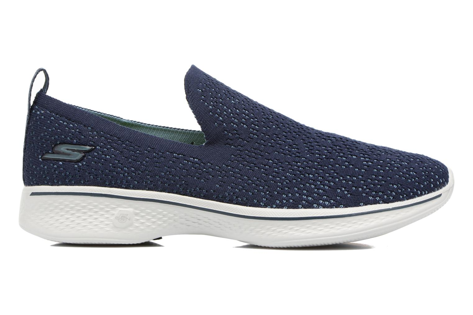 Sport shoes Skechers Go walk 4 gifted Blue back view
