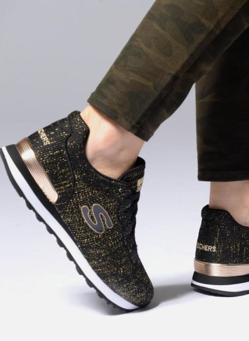 1cab0cb3887f Trainers Skechers OG 85 Low Flyers Black view from underneath   model view