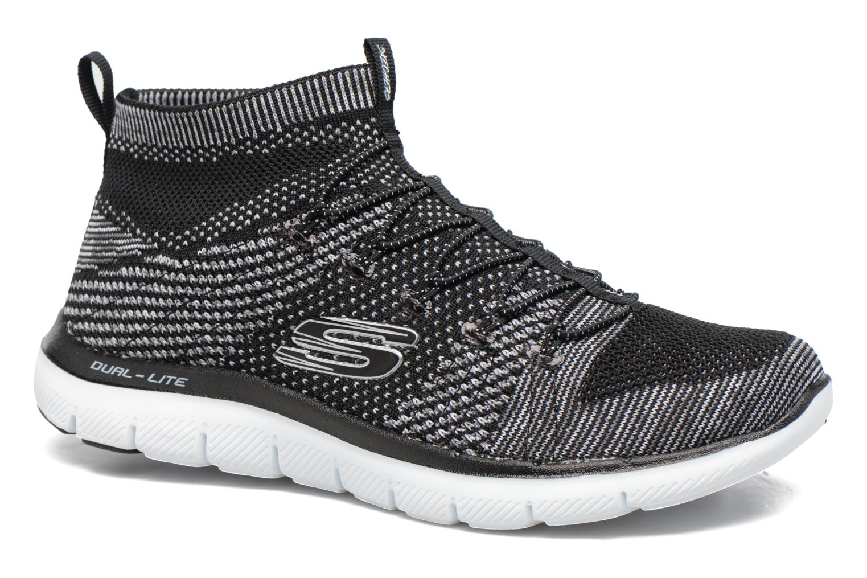Sportssko Skechers Flex Appeal 2.0 Hourglass Sort detaljeret billede af skoene