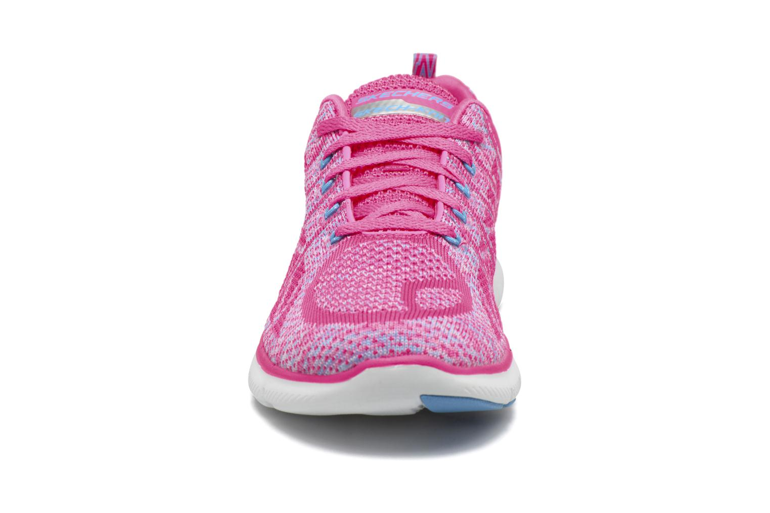Zapatillas de deporte Skechers Flex Appeal 2.0 New Gem Rosa vista del modelo