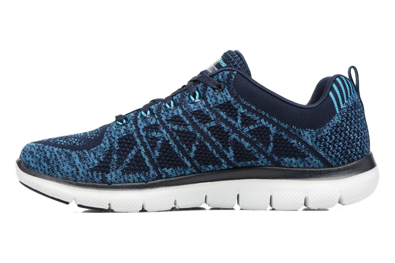 Zapatillas de deporte Skechers Flex Appeal 2.0 New Gem Azul vista de frente