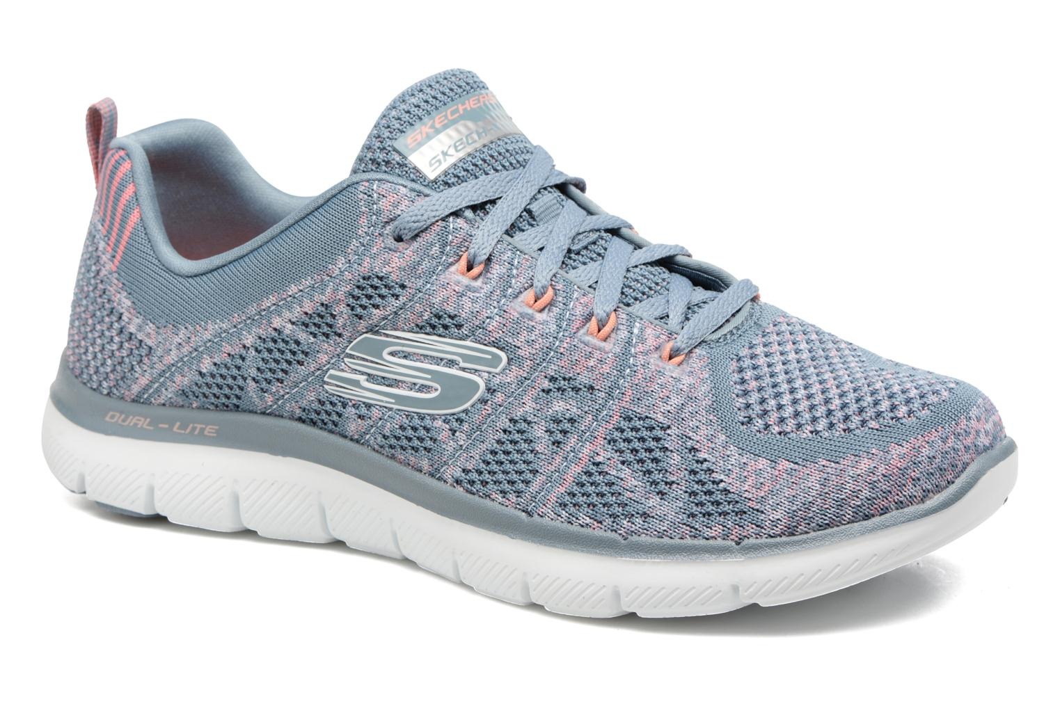 Sport shoes Skechers Flex Appeal 2.0 New Gem Grey detailed view/ Pair view