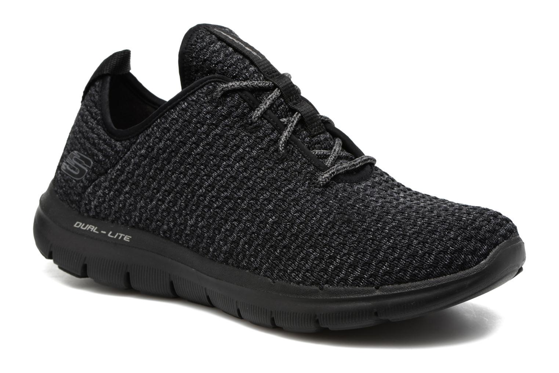 Chaussures de sport Skechers Flex Appeal 2.0 Bold Move Gris vue détail/paire
