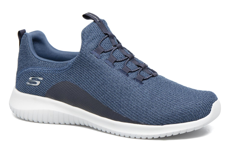 Sportssko Skechers Ultra Flex Blå detaljeret billede af skoene