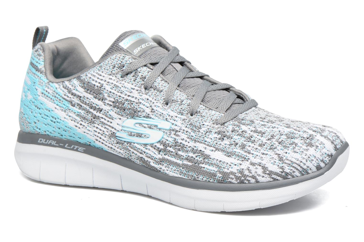 Sport shoes Skechers Synergy 2.0 High Spirits Grey detailed view/ Pair view