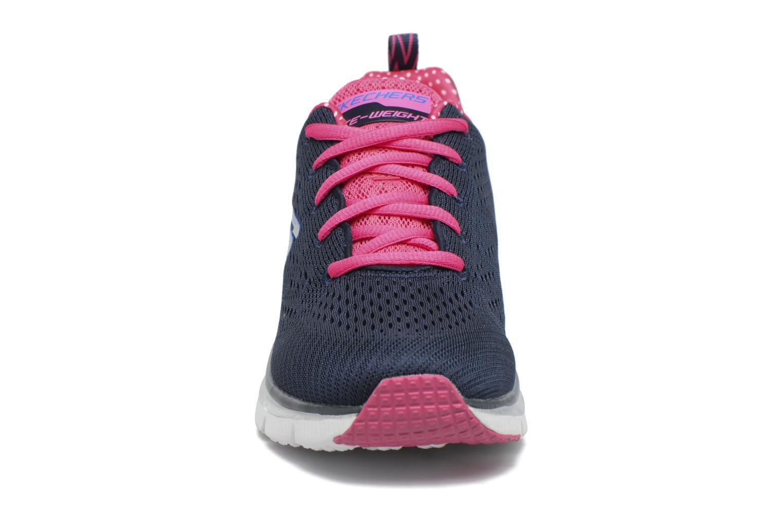 Chaussures de sport Skechers Fashion Fit Statement Piece Bleu vue portées chaussures