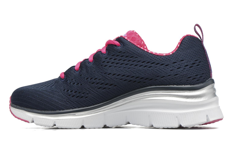 Chaussures de sport Skechers Fashion Fit Statement Piece Bleu vue face