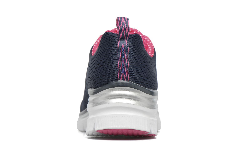 Chaussures de sport Skechers Fashion Fit Statement Piece Bleu vue droite