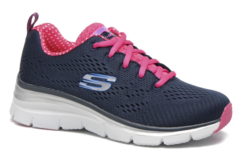 Chaussures de sport Skechers Fashion Fit Statement Piece Bleu vue détail/paire