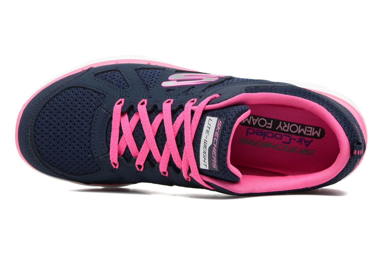 Zapatillas de deporte Skechers Flex Appeal 2.0 Simplistic Azul vista lateral izquierda