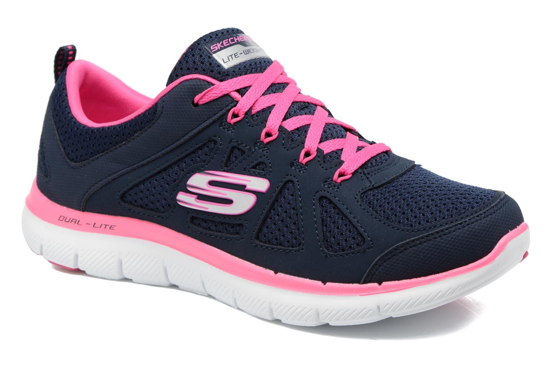 Zapatillas de deporte Skechers Flex Appeal 2.0 Simplistic Azul vista de detalle / par