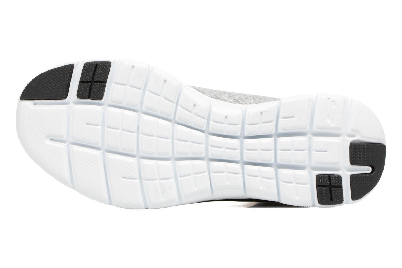 Baskets Skechers Flex Appeal 2.0 in Code Gris vue haut
