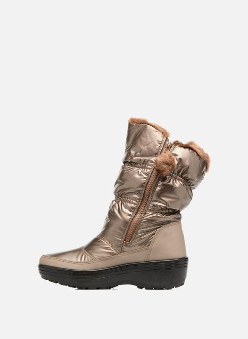 Zapatillas de deporte Skechers Alaska Abyss Oro y bronce vista de frente