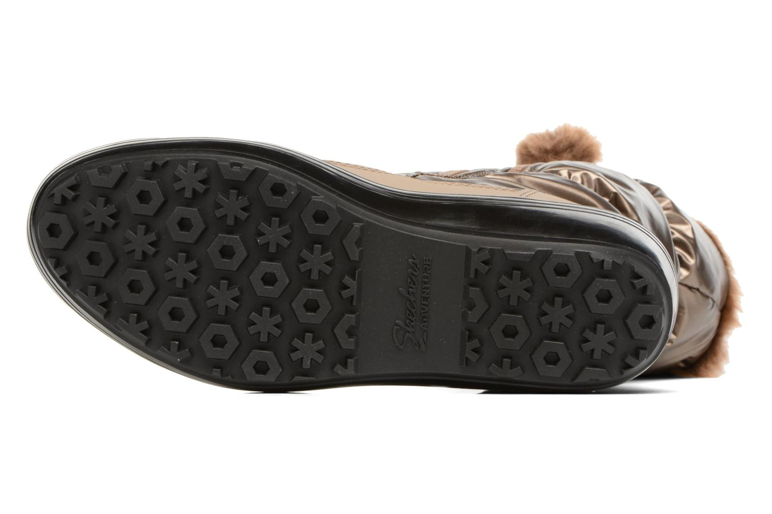 Sport shoes Skechers Alaska Abyss Bronze and Gold view from above
