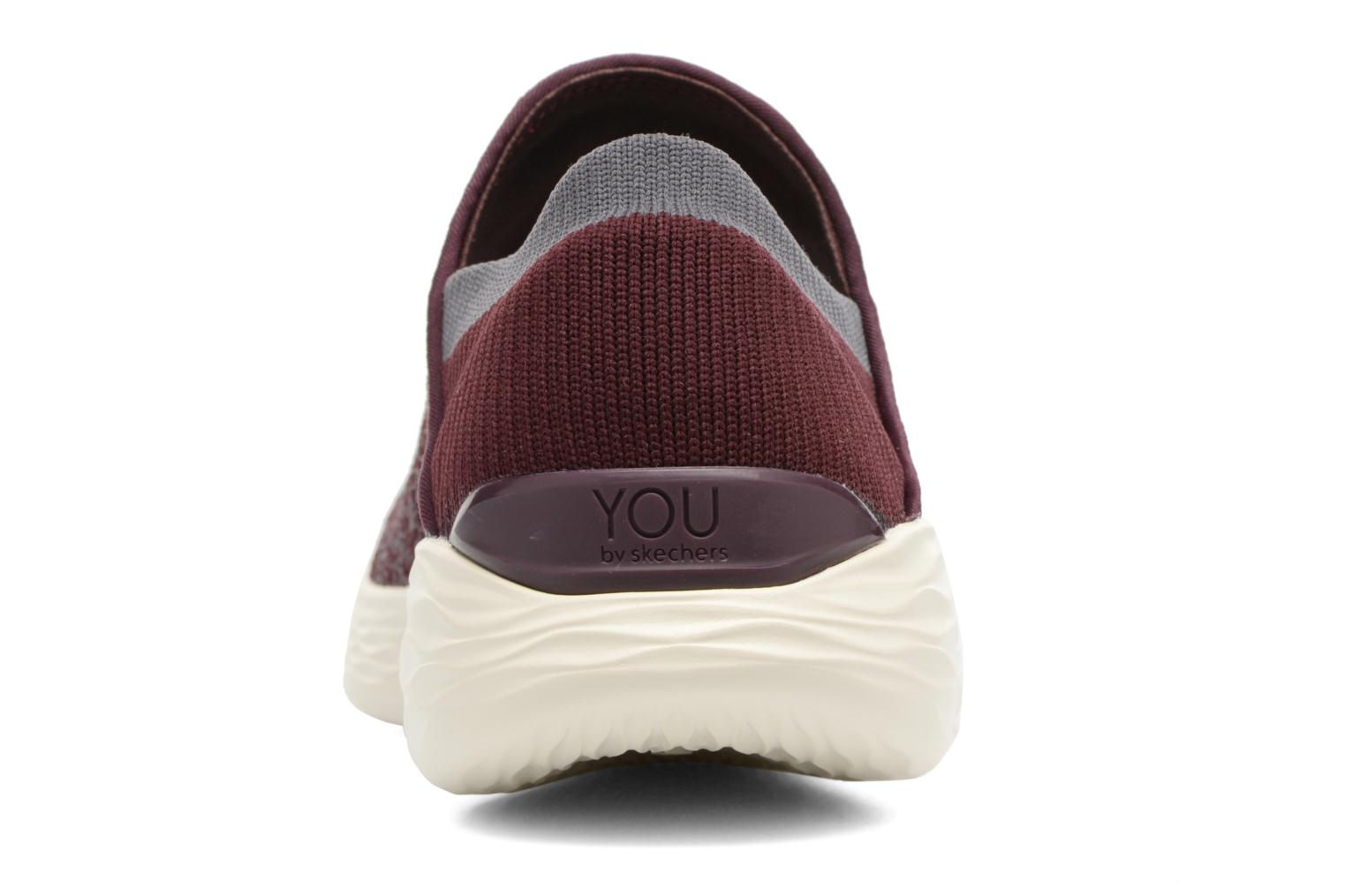 Sport shoes Skechers You Burgundy view from the right
