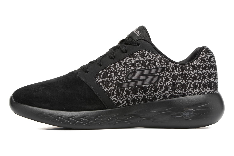 Sport shoes Skechers Go run 601 Black front view