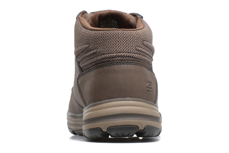 Bottines et boots Skechers Garton Meleno Marron vue droite