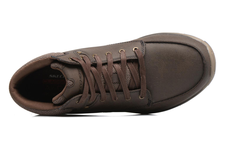 Bottines et boots Skechers Garton Meleno Marron vue gauche