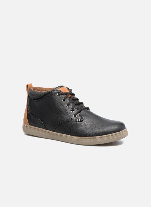 Zapatos con cordones Skechers Helmer Rolven Negro vista de detalle / par